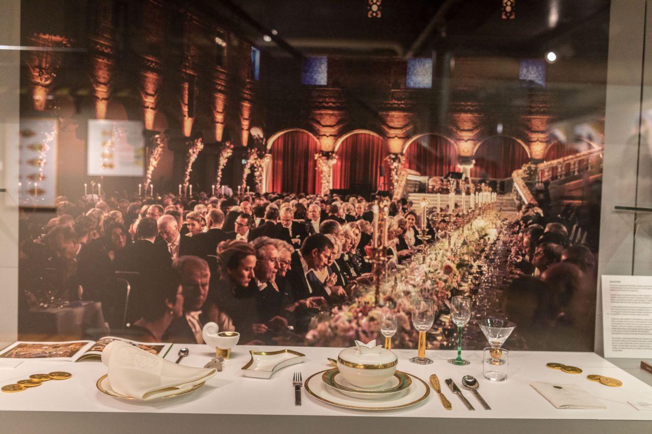 Fotografía de la cena de gala que se celebra en Estocolmo tras la entrega de los Premios Nobel