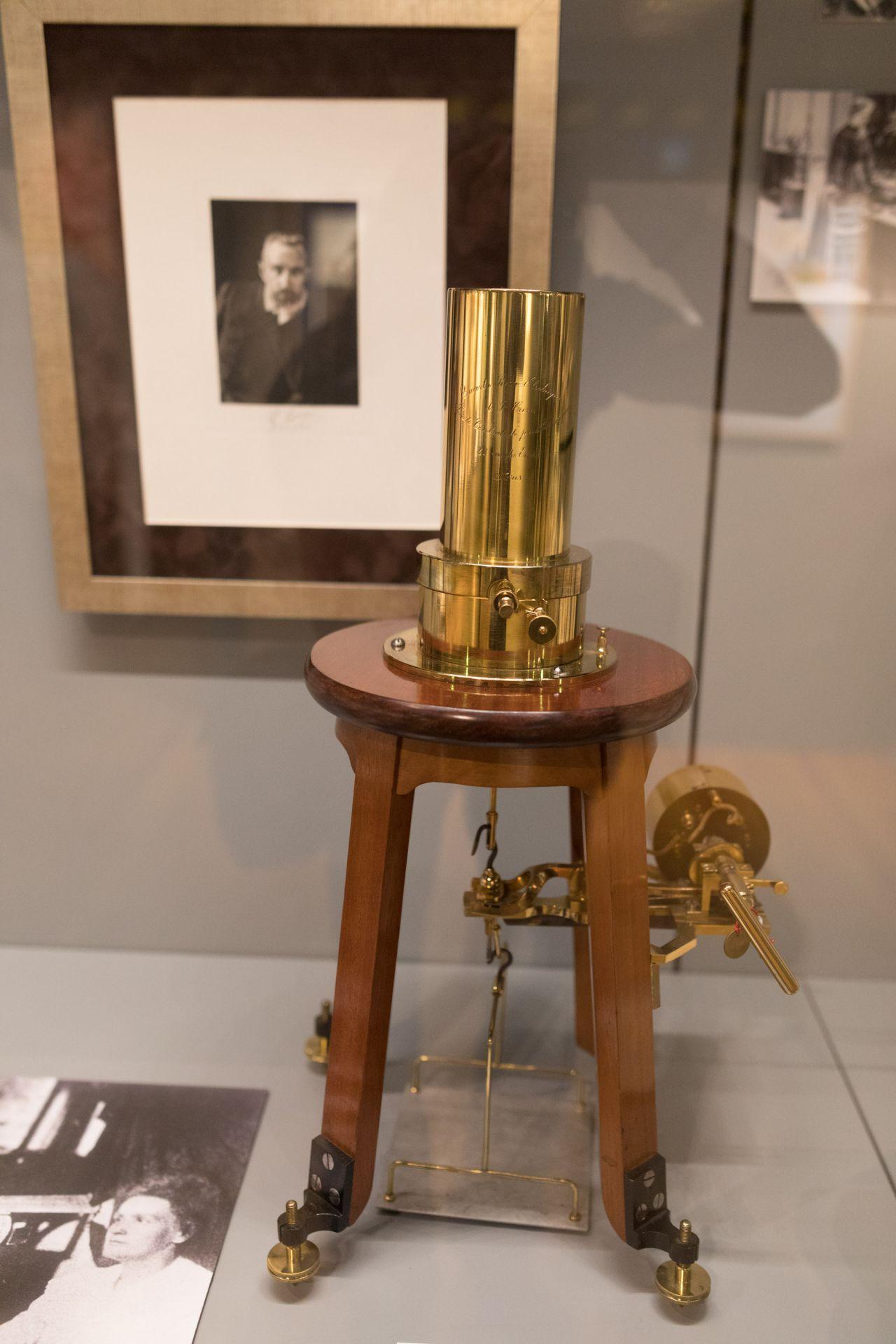 Cuarzo piezoeléctrico de Pierre Curie.