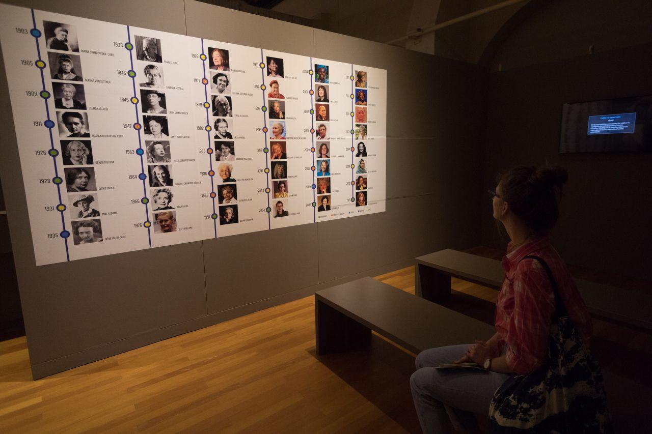 Panel con todas las mujeres que obtuvieron un Premio Nobel