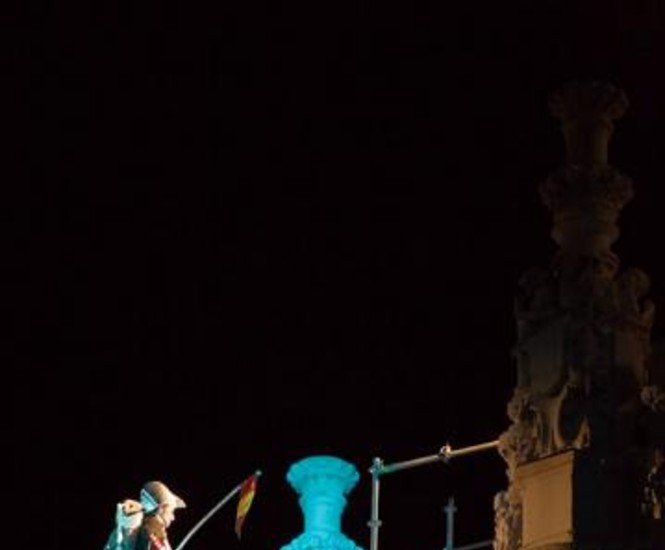 La Fura dels Baus concluyó el programa de festejos del Bicentenario del Dos de Mayo de 1808 con un maravilloso montaje sobre los fusilamientos de españoles que hubo en la ciudad.