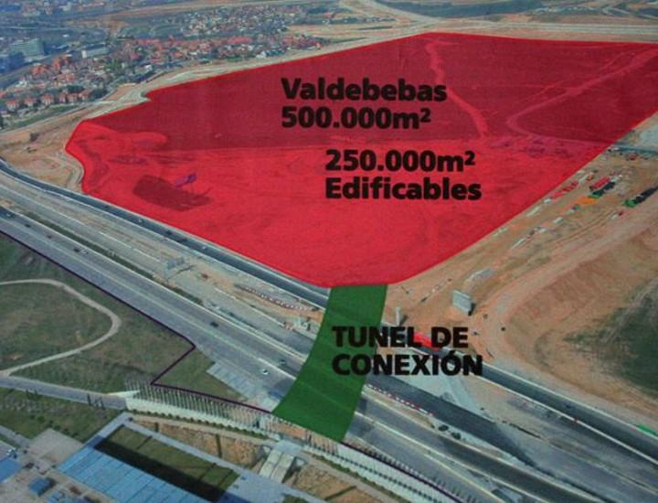 El proyecto de ampliación para la creación del nuevo recinto ferial de Ifema contará con una superficie edificable de 250.000 metros cuadrados, a los que se podrá acceder mediante un túnel de 114 metros que conecta el actual recinto con la parcela situada en Valdebebas.