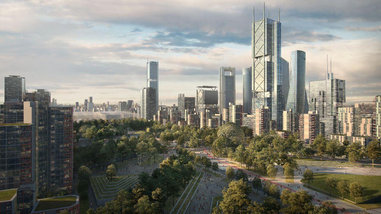 También se contempla la construcción de tres rascacielos que completarán el 'skyline' de la ciudad, ya que su altura será similar a las cuatro torres situadas en la antigua ciudad deportiva del Real Madrid.