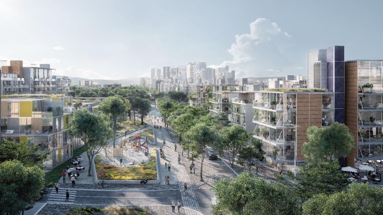 En lo relativo a zonas verdes y espacios libres, existirá un gran eje verde continuo que vertebrará el norte de la capital, donde se articularán también los sistemas de transporte adecuados para garantizar una movilidad sostenible.