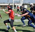 Partido entre las selecciones española y turca de Fútbol Americano en Tres Cantos