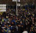 La hinchada argentina toma las calles de Madrid
