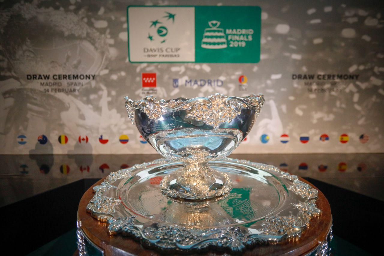 Al acto han asistido el presidente de la Comunidad de Madrid, Angel Garrido, el coordinador general de la Alcaldía de Madrid, Luis Cueto, Gerard Piqué, CEO de Kosmos Tennis y el presidente de la ITF, David Haggerty.