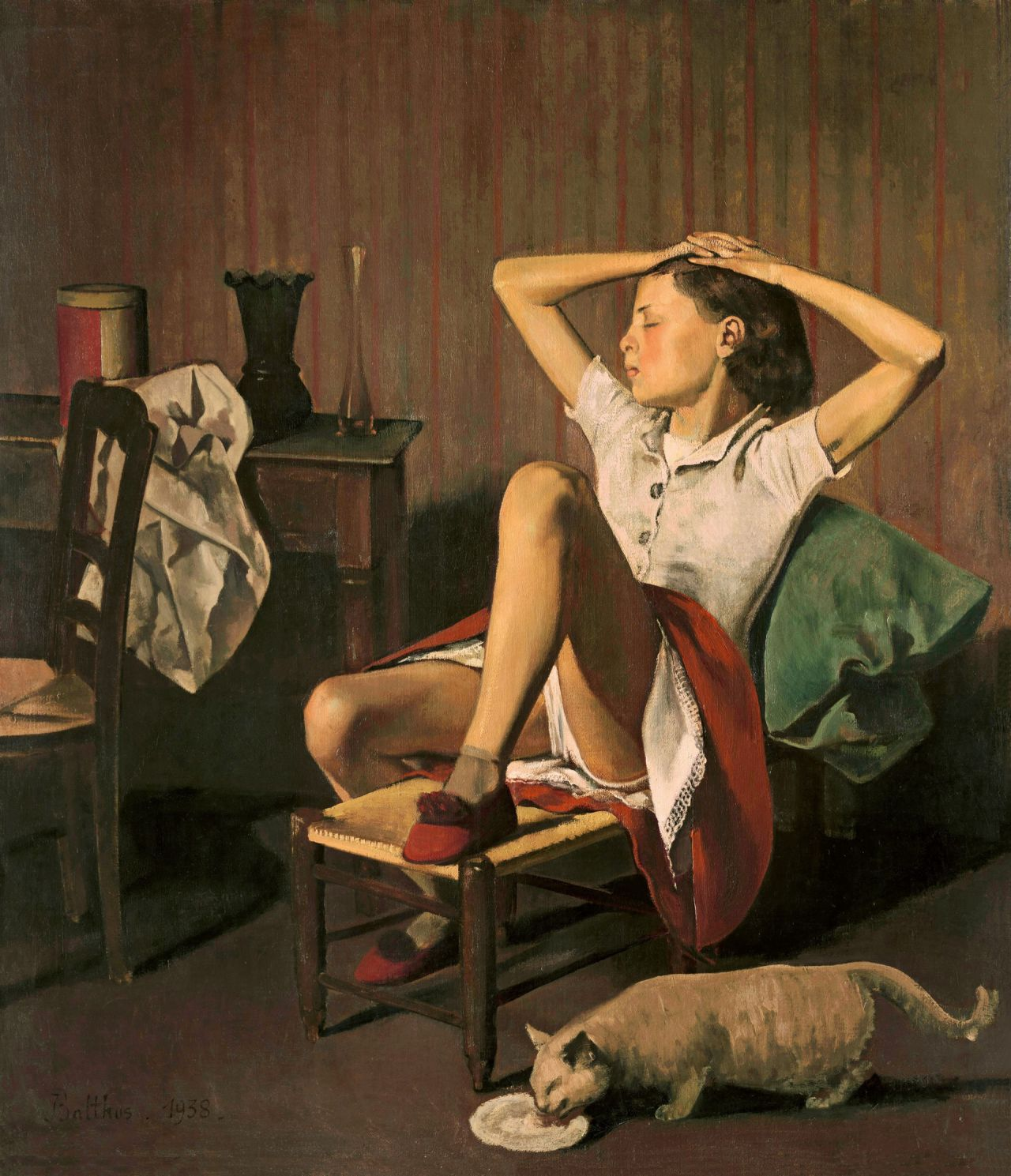 'Therese soñando', una de las pinturas de Balthus.
