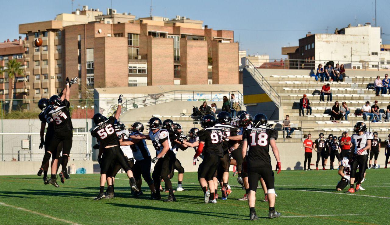 Partido disputado entre el Murcia Cobras y el LG Oled Black Demons Las Rozas.