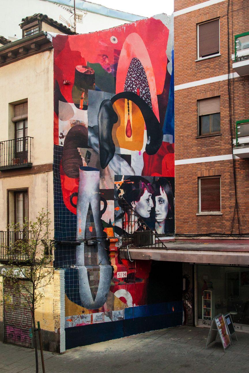 Nació en 1982 en la ciudad rusa de Novosibirsk. Desde muy temprano se interesó por la cultura hip-hop y el graffiti. Su trabajo mezcla la pintura figurativa con el arte de la tipografía, logrando un sumo equilibrio tanto en formas gestuales como geométricas, creando una estética contemporánea que aún elementos del realismo, el cubismo y el expresionismo. Su obra ha sido expuesta en galerías y muros de todo el mundo, y ahora le toca el turno a Madrid, ciudad donde ha llevado a cabo una composición metafórica, una rima entre colores y texturas con la que homenaje a la famosa poeta rusa Anna Akhmatova.