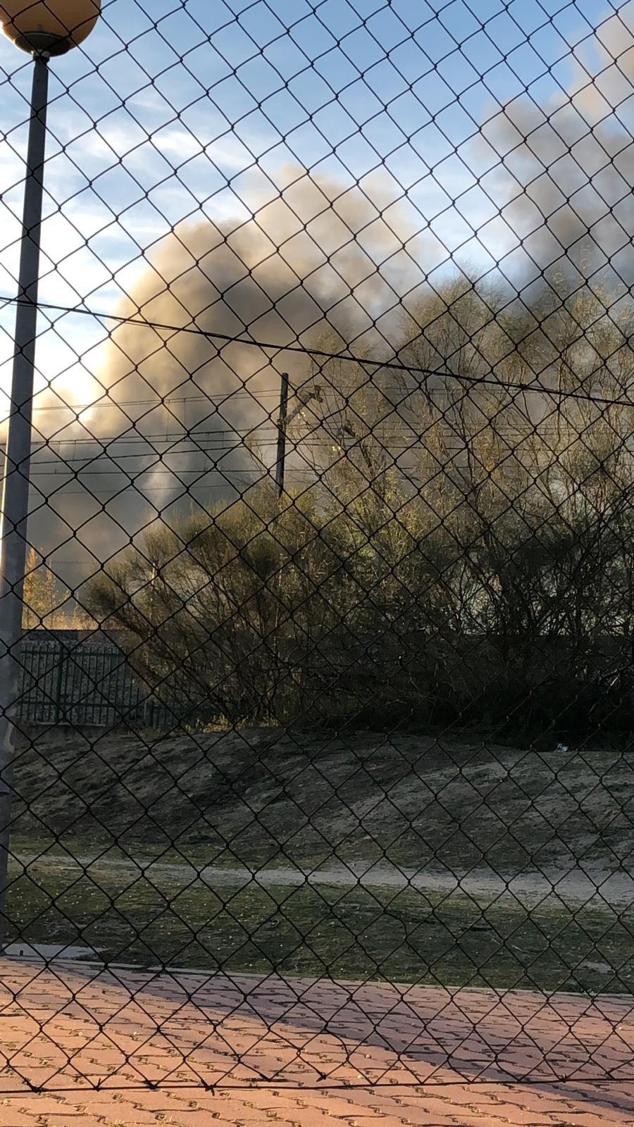El fuego, desde la A-5.