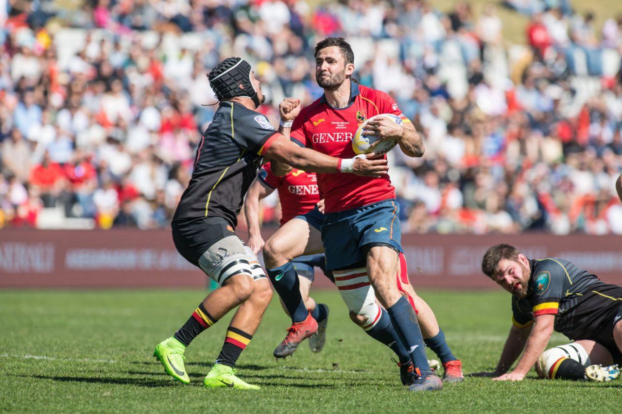 Victoria de España frente a Bélgica en el Campeonato de Europa de Rugby.