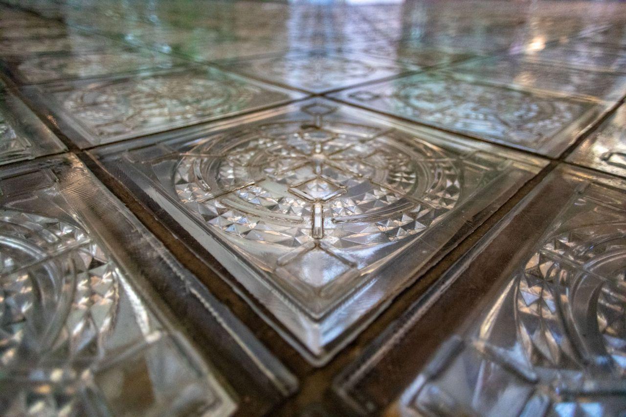 Detalle del suelo de una de las plantas del Palacio de Cibeles.