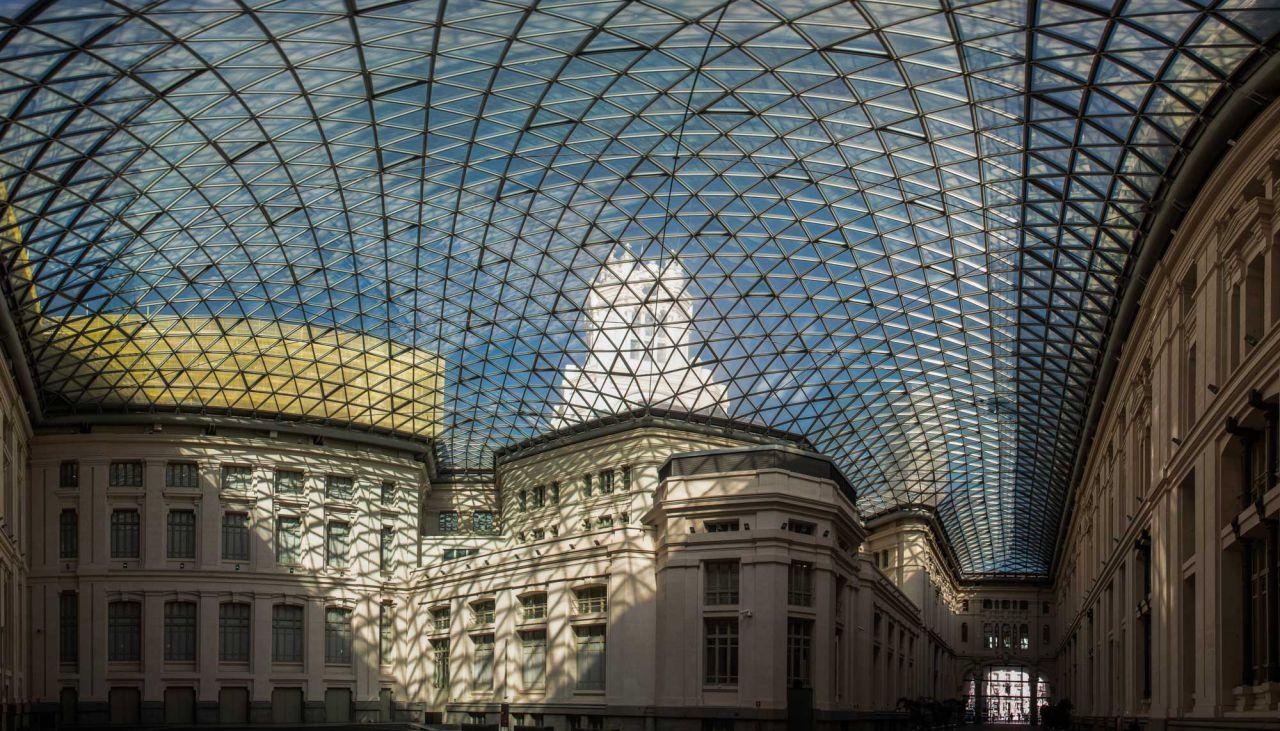 Cúpula acristalada de la Galería de Cristal.