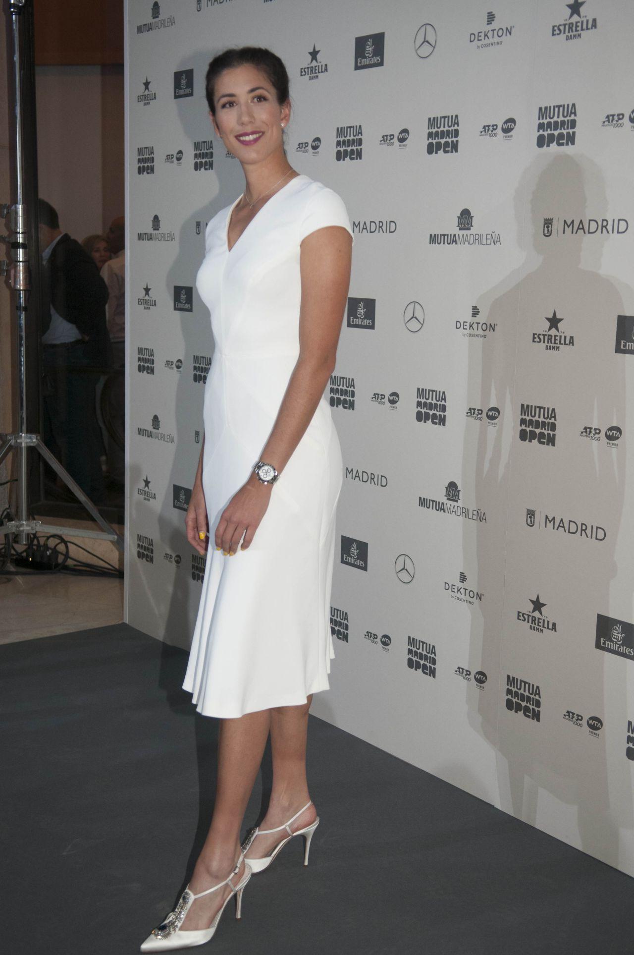 Garbiñe Muguruza, en la presentación del Open de Tenis de Madrid que tuvo lugar en el Museo del Prado.