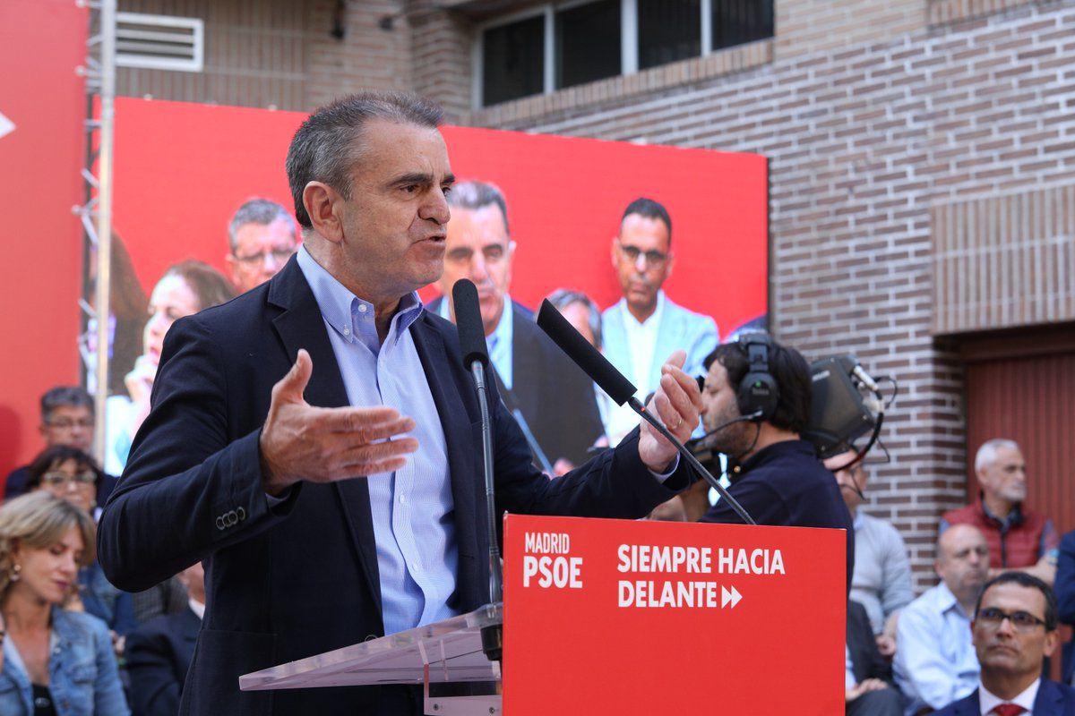 José Manuel Franco en el acto de inicio de campaña del PSOE en Vicálvaro.