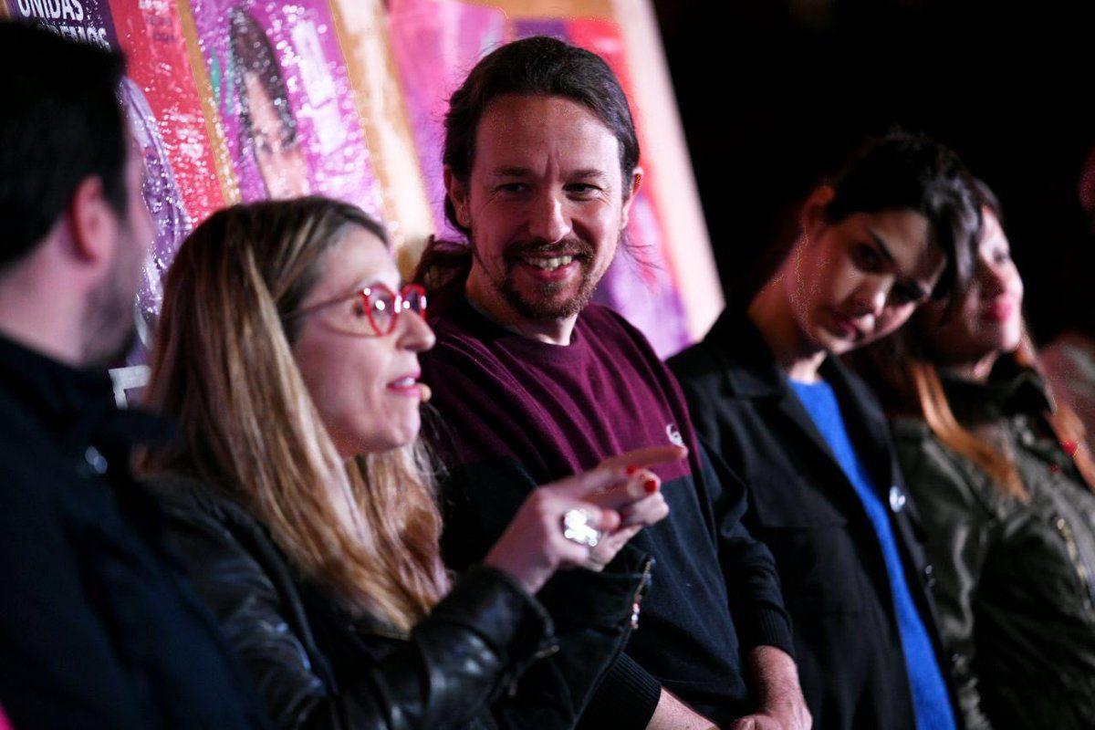 El secretario general de Podemos, Pablo Iglesias, ha pedido el voto para que se dé un