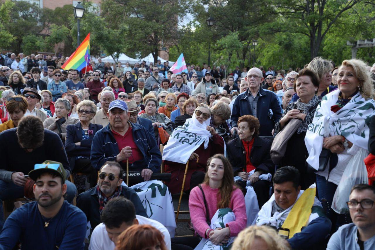 Más de 2.000 personas han mostrado su apoyo a Más Madrid.