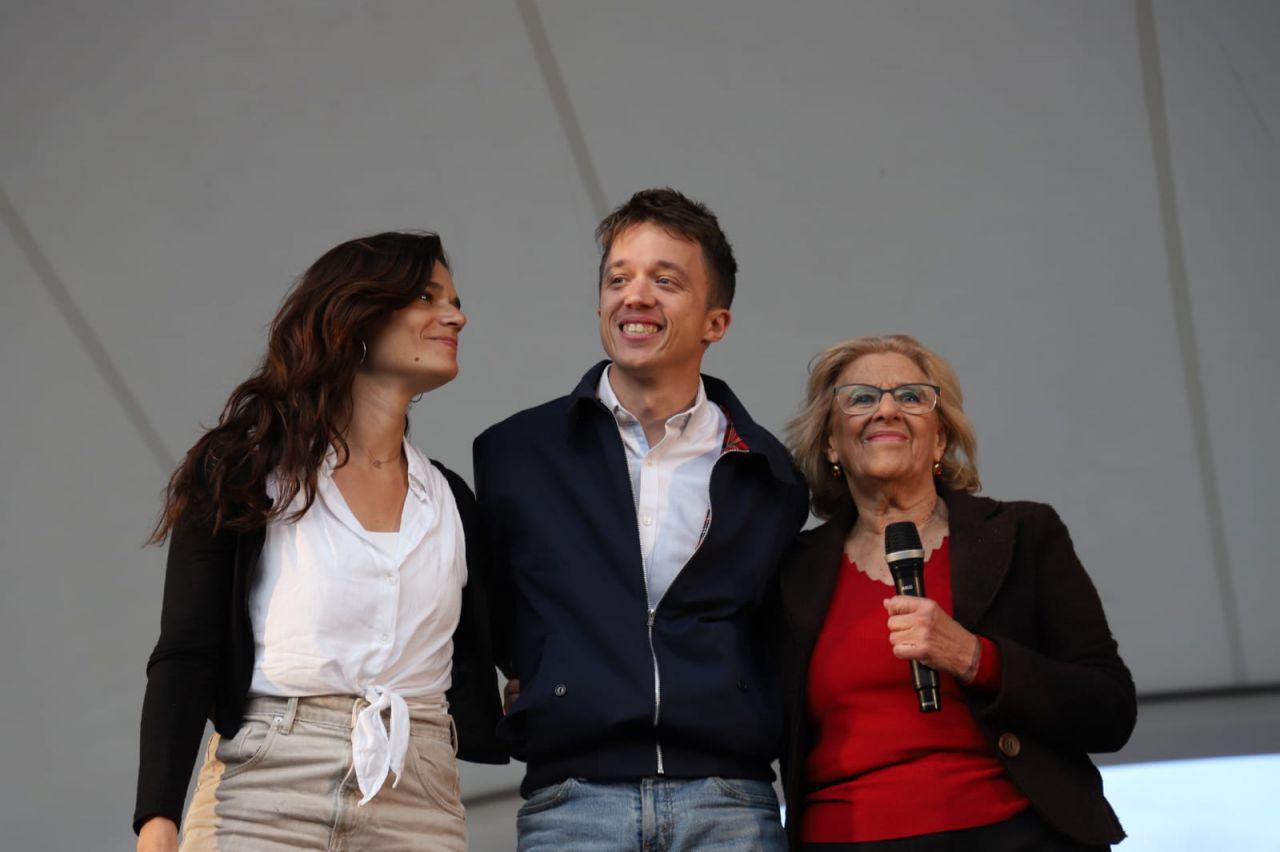 Arranque de campaña de Más Madrid con Manuela Carmena e Íñigo Errejón.