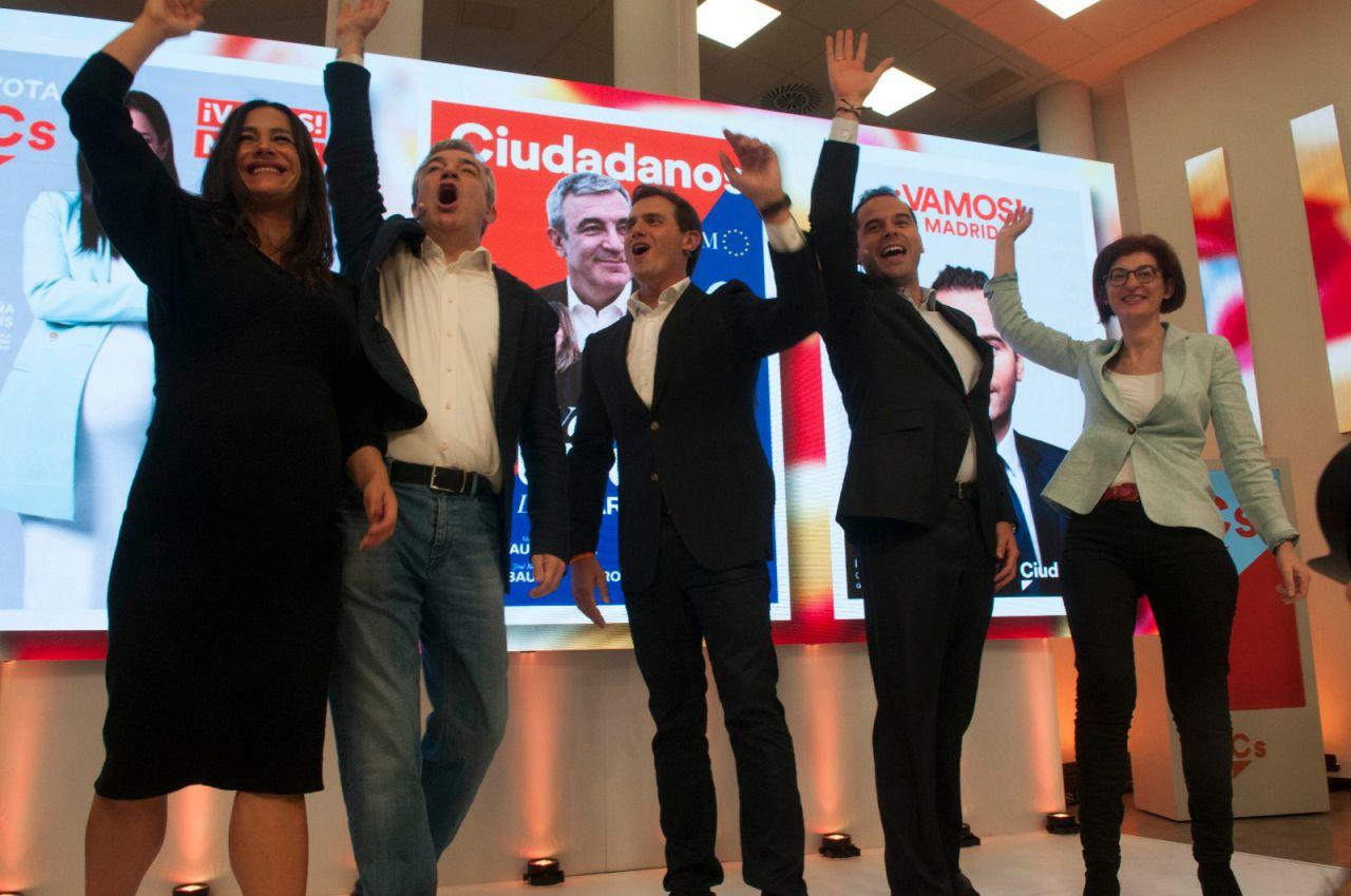Ciudadanos celebra el comienzo de campaña electoral.
