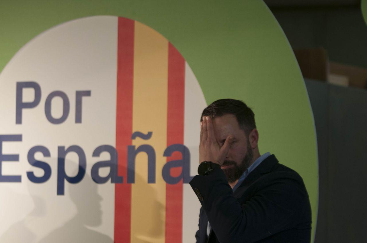Santiago Abascal, presidente del partido, ha acudido al acto de inicio de campaña en Paracuellos del Jarama.