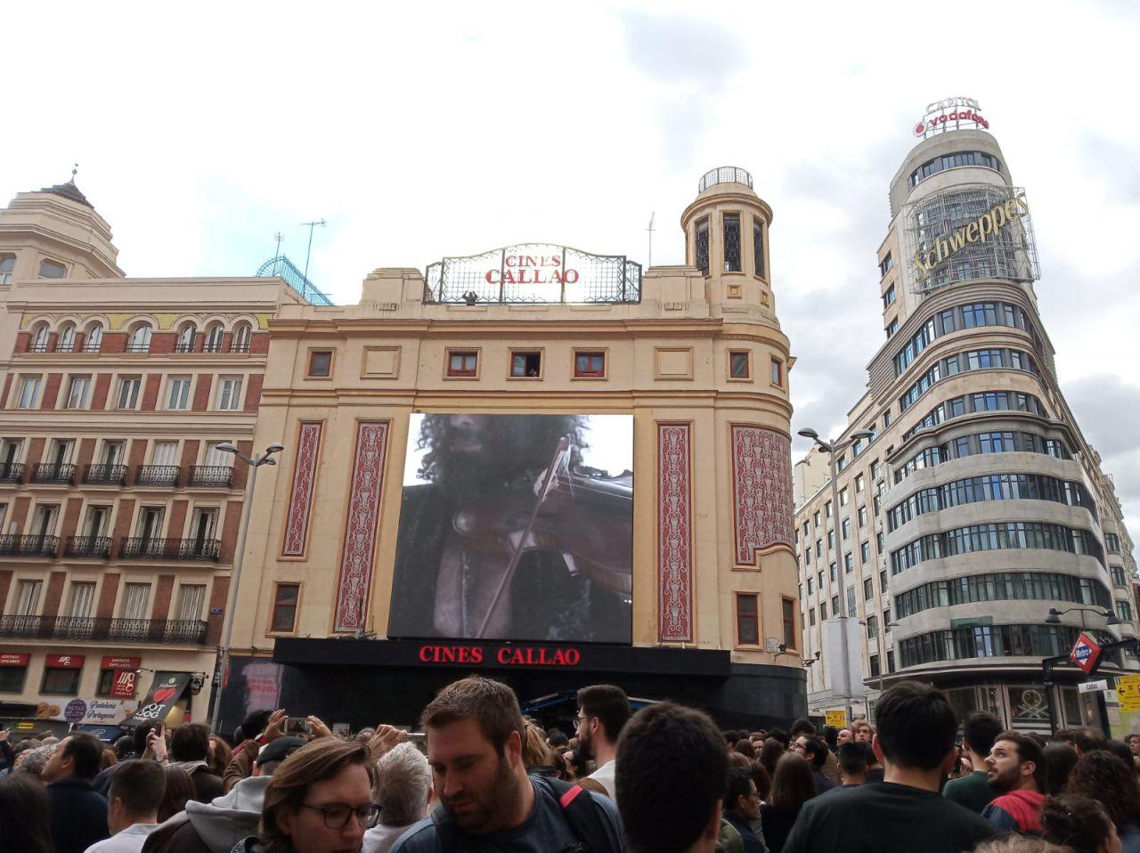 Un concierto digital en 360° y abierto a todo aquel que ha pasado por la emblemática plaza.