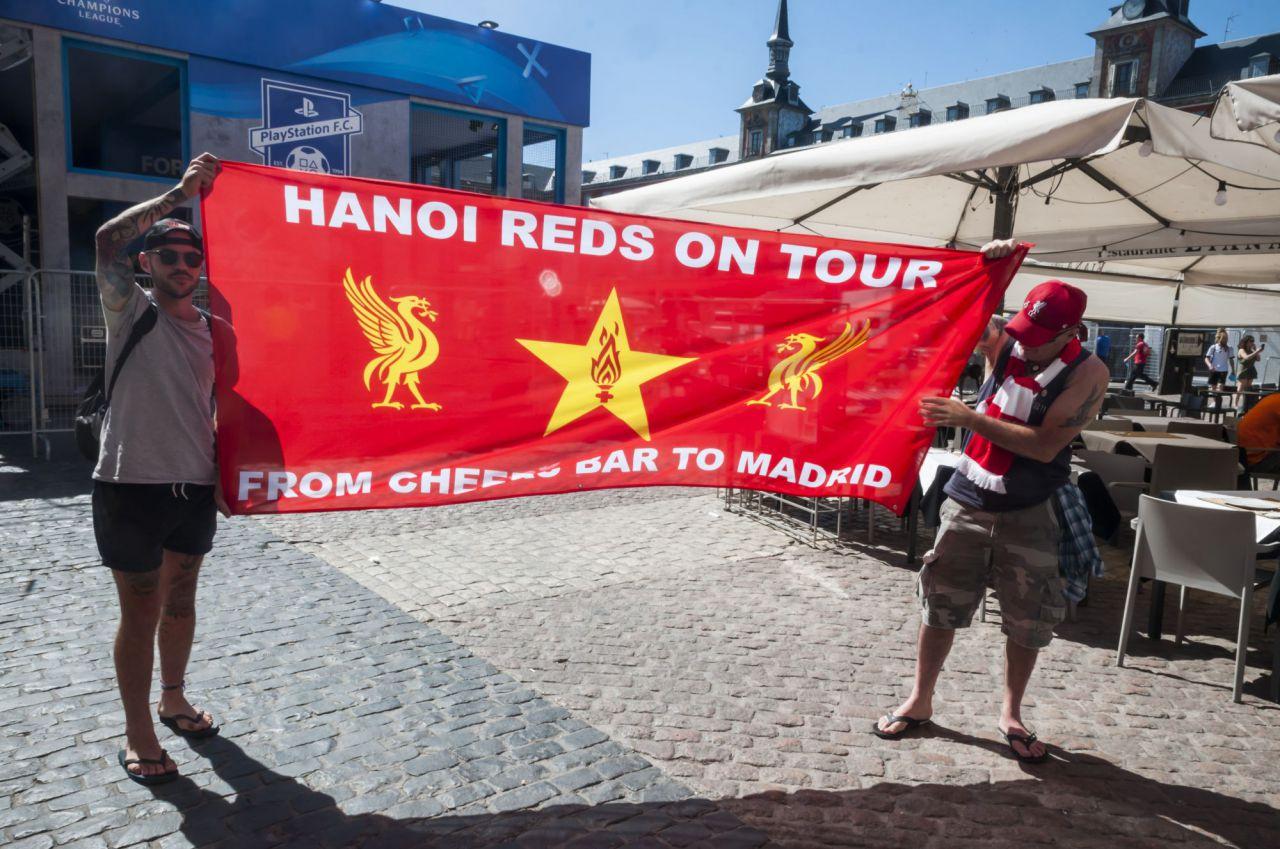 Aficionados del Liverpool por la capital.