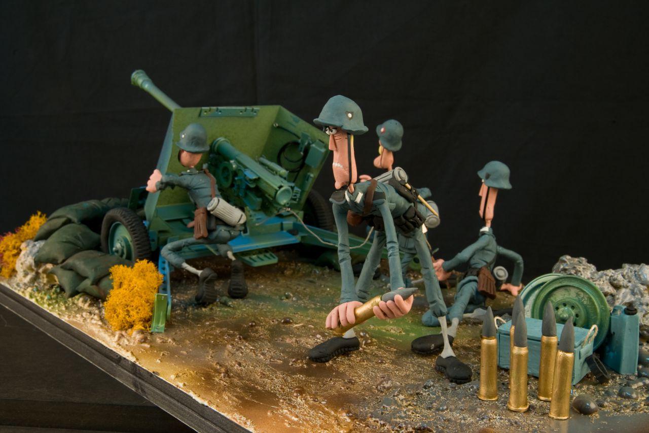La segunda guerra mundial, otra de las escenas de 'Plastihistoria de la humanidad'