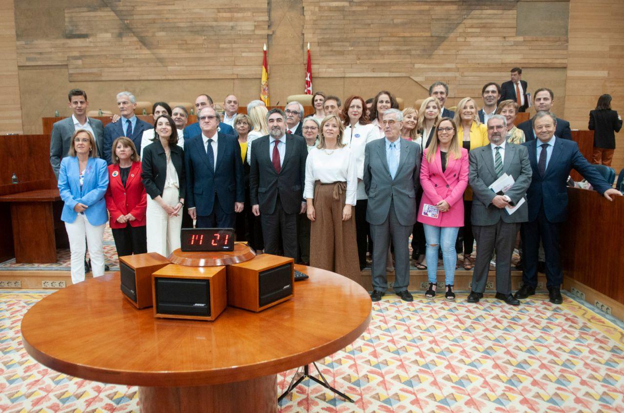 El grupo parlamentario socialista en la Asamblea de Madrid.
