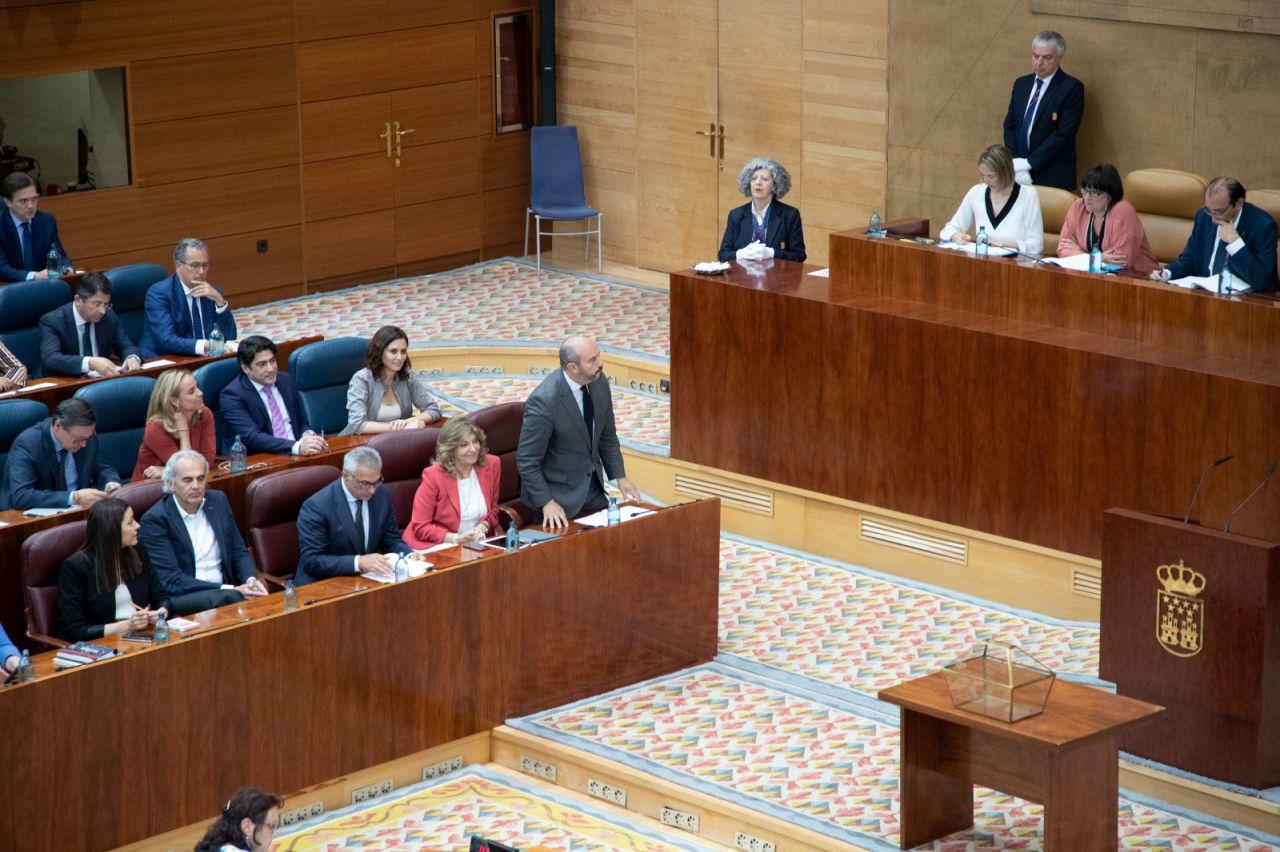 Constitución del pleno de la Asamblea de Madrid.