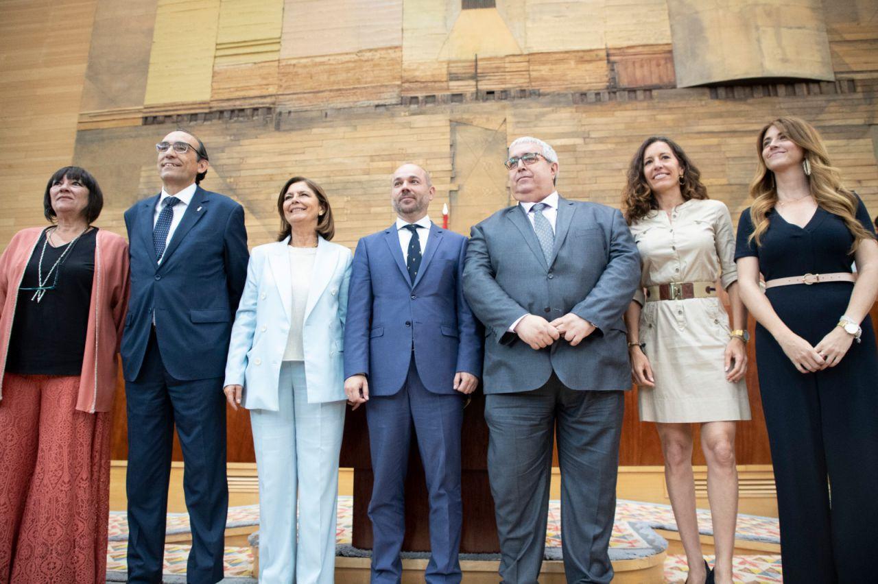 Los miembros de la mesa de la Asamblea de Madrid para esta legislatura.