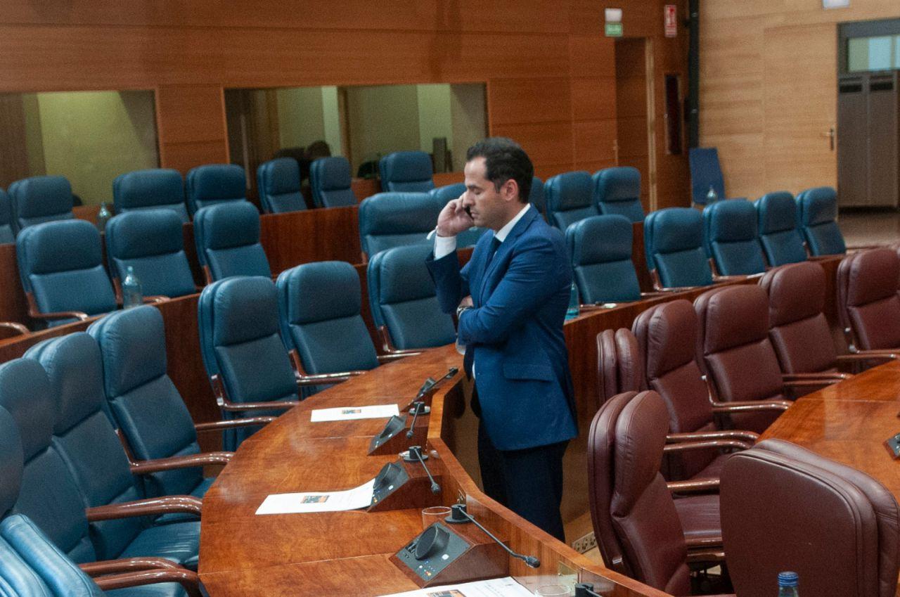 Ignacio Aguado, tras la sesión de constitución de la Asamblea de Madrid.