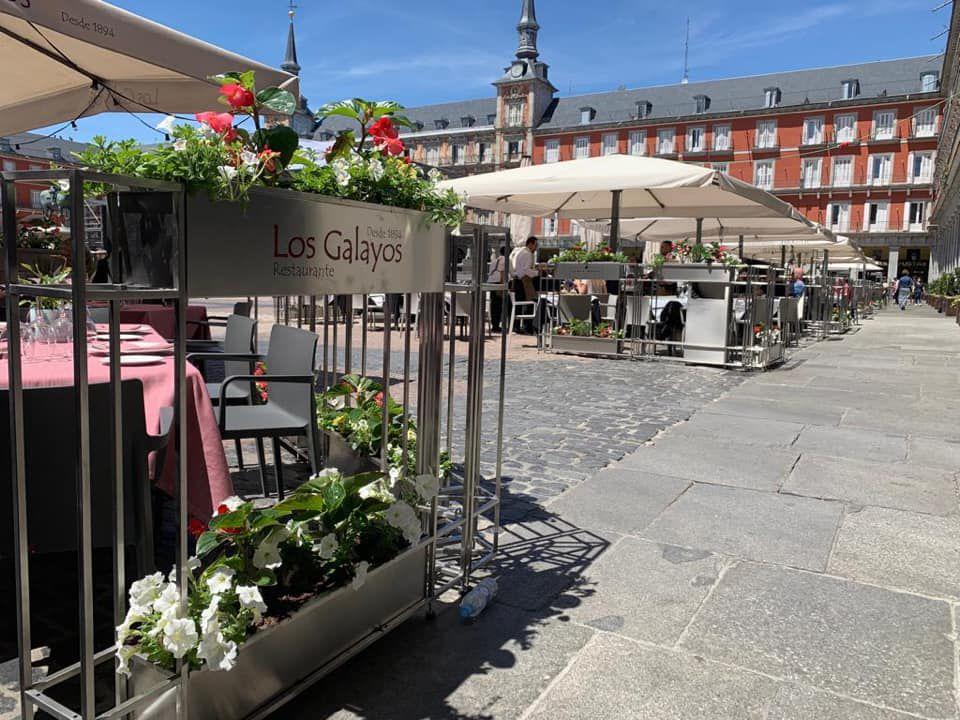 Nueva terraza de la Plaza Mayor de los Galayos