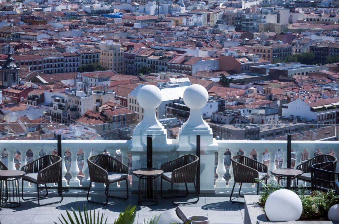 Vistas de la ciudad desde una de las terrazas.