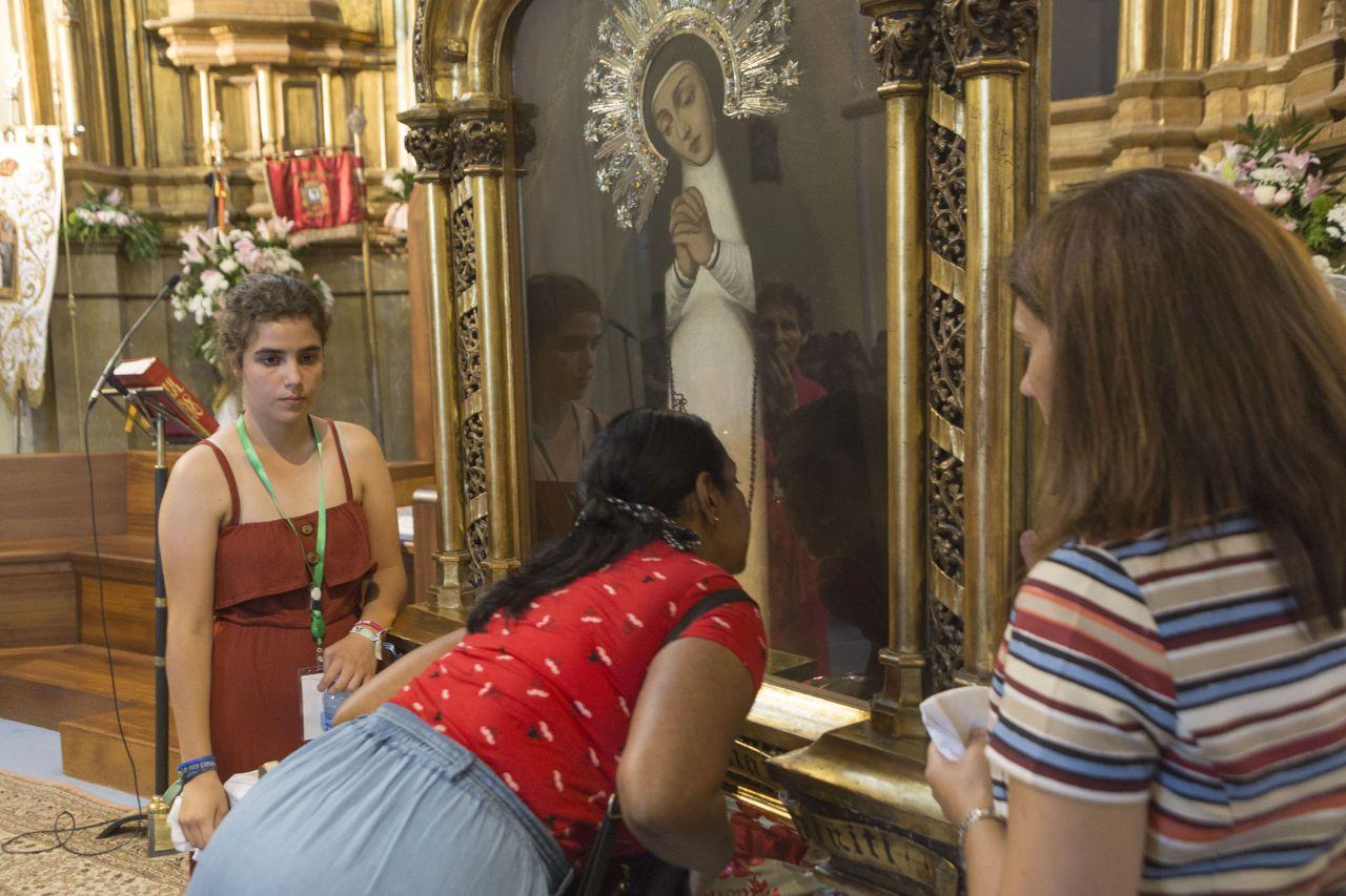 Cuadro de la Virgen de la Paloma.