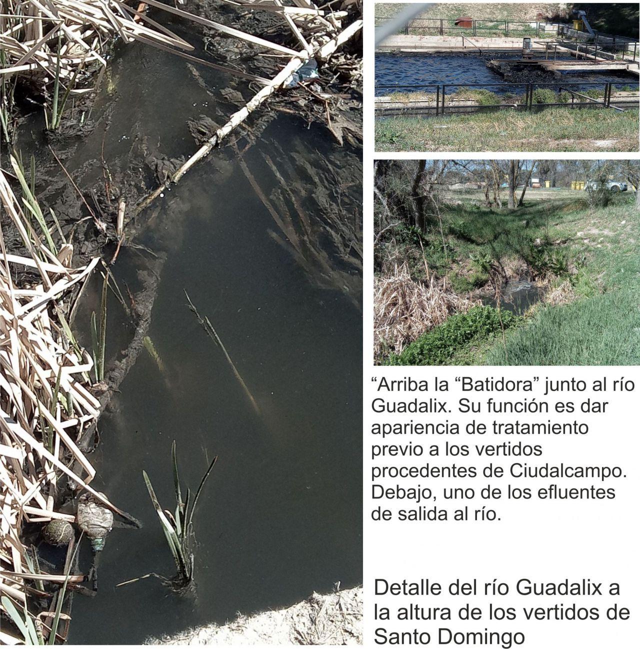 Vertidos contaminantes en el río Guadalix.