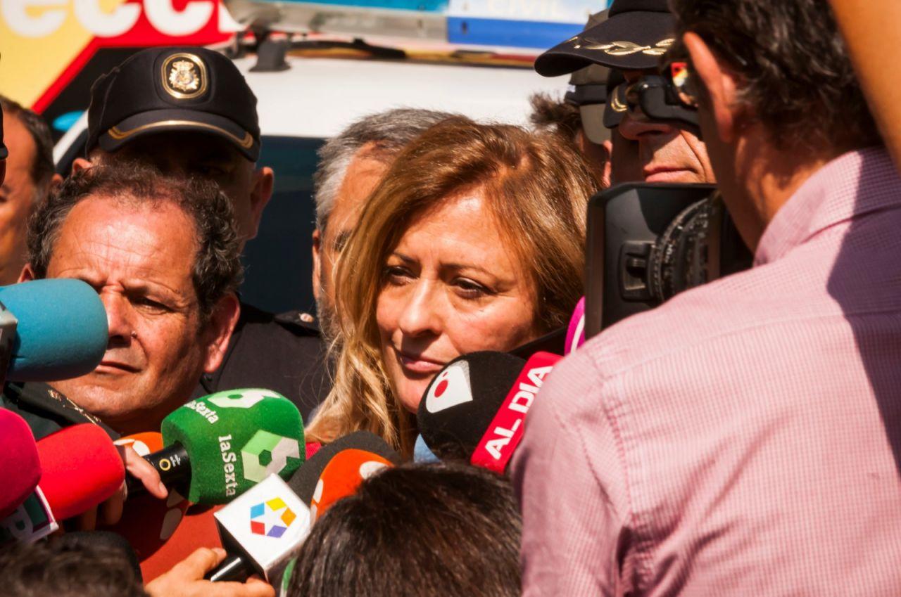 María Paz García Vera, delegada del Gobierno en Madrid, explica a los medios de comunicación el operativo de búsqueda de Blanca Fernández Ochoa.