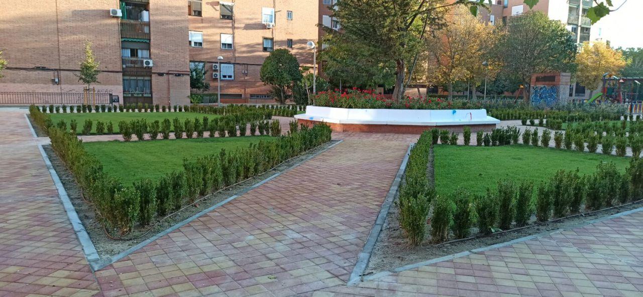 La nueva imagen del parque Antonio Machado, situado en Valdezarza.