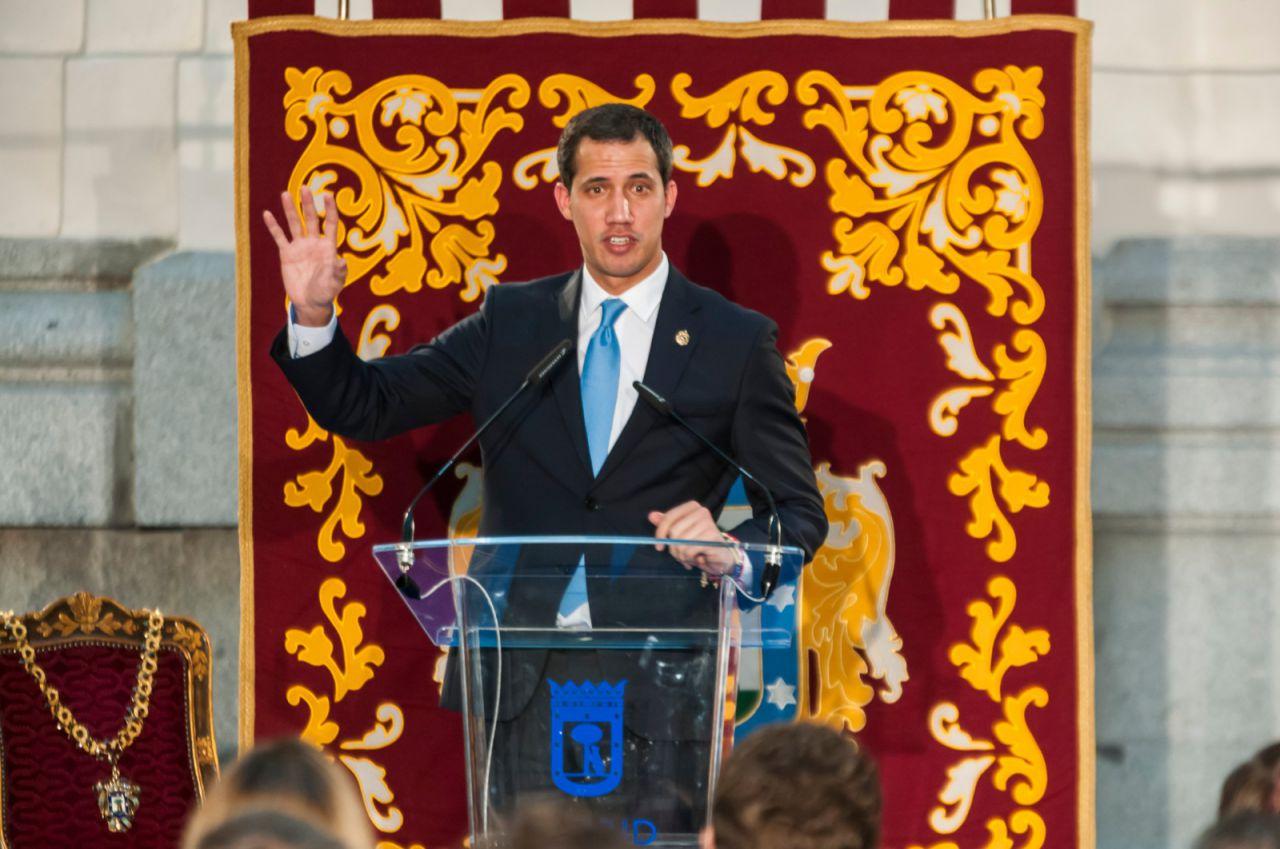 Juan Guaidó recibe las Llaves de Oro de Madrid