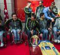 La Comunidad de Madrid recibe al CD ILUNION después de ganar la Copa del Rey de Baloncesto en Silla de Ruedas