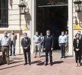 José Manuel Franco participa en la Delegación del Gobierno en el minuto de silencio por los muertos por covid