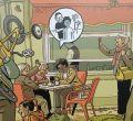 Un mural del dibujante Paco Roca rinde homenaje a los mayores en el Metro