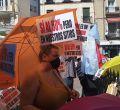 Quinto domingo de protestas en el Rastro