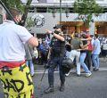 Concentración de falangistas con disturbios delante del Centro Blanquerna