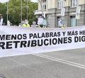 """Los militares exigen una retribución """"digna"""" en la puerta del Congreso"""