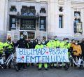 Los trabajadores de la EMT salen a defender BiciMAD