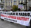 Los comerciantes del Rastro protestan ante el Congreso