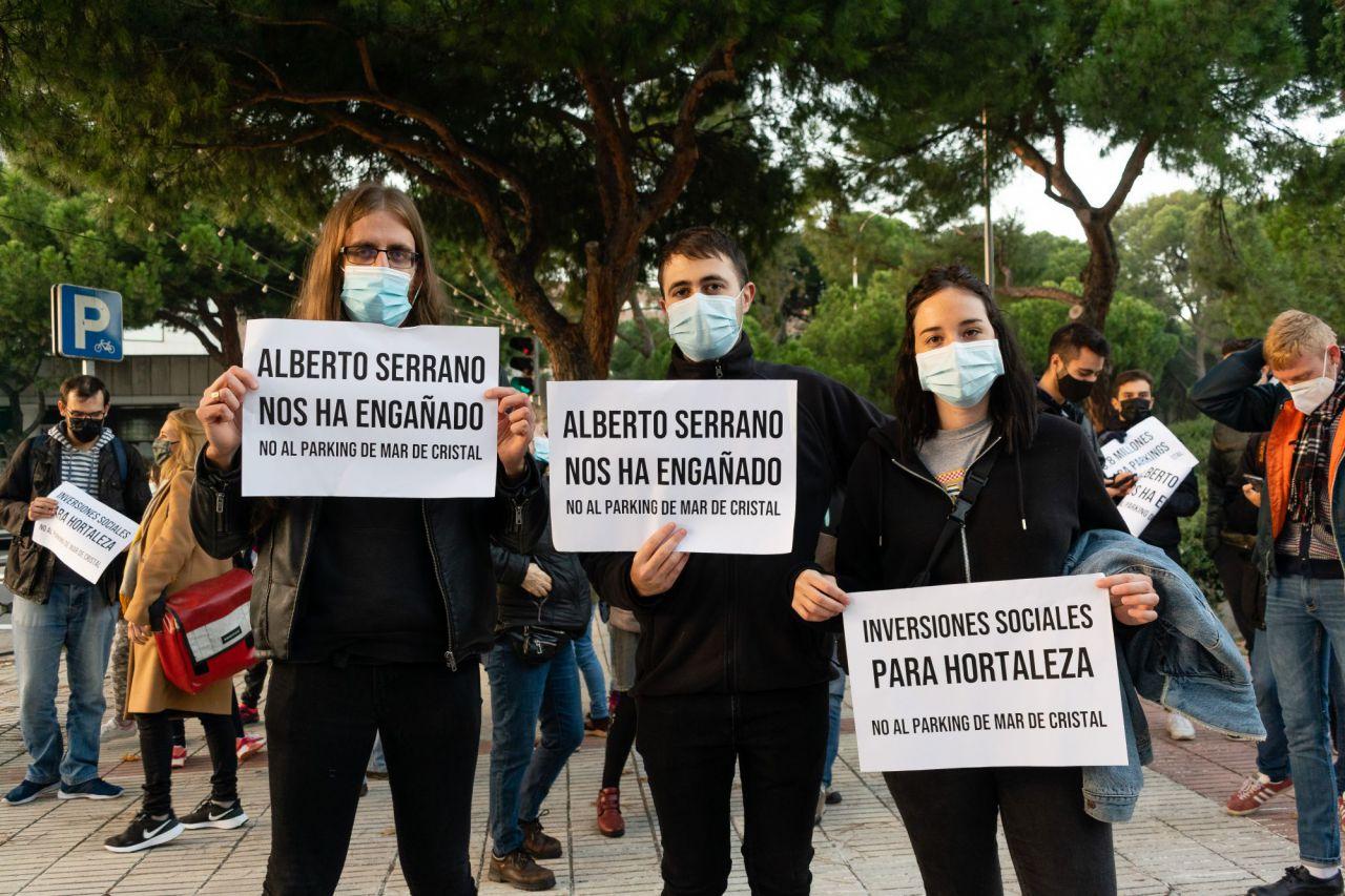 Concentración contra el Parking Mar de Cristal,Parque Pinar del Rey, Madrid,