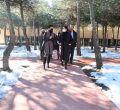 Isabel Díaz Ayuso visita el centro de educación especial María Soriano de Madrid