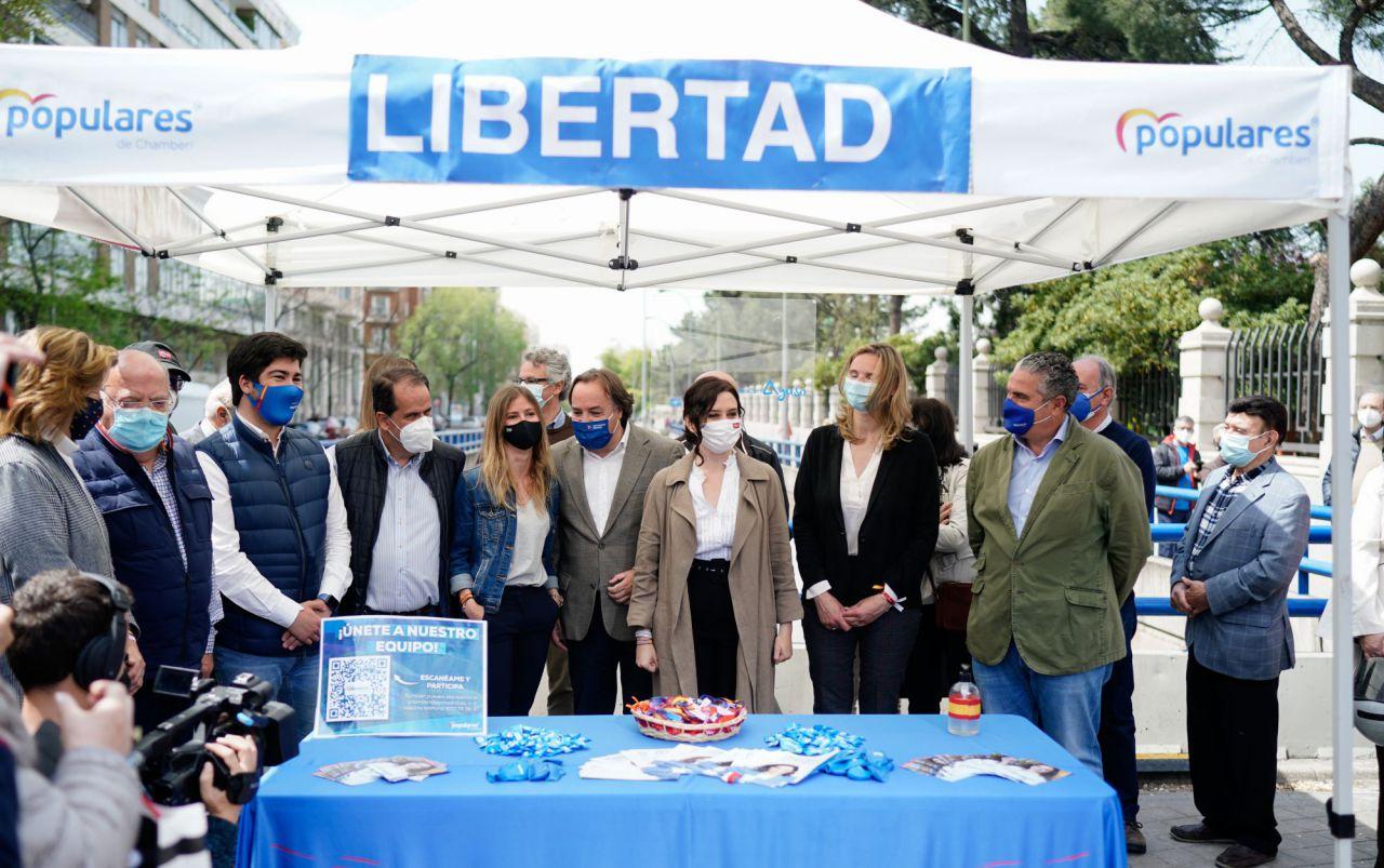 Isabel Díaz Ayuso en un mitin del PP.