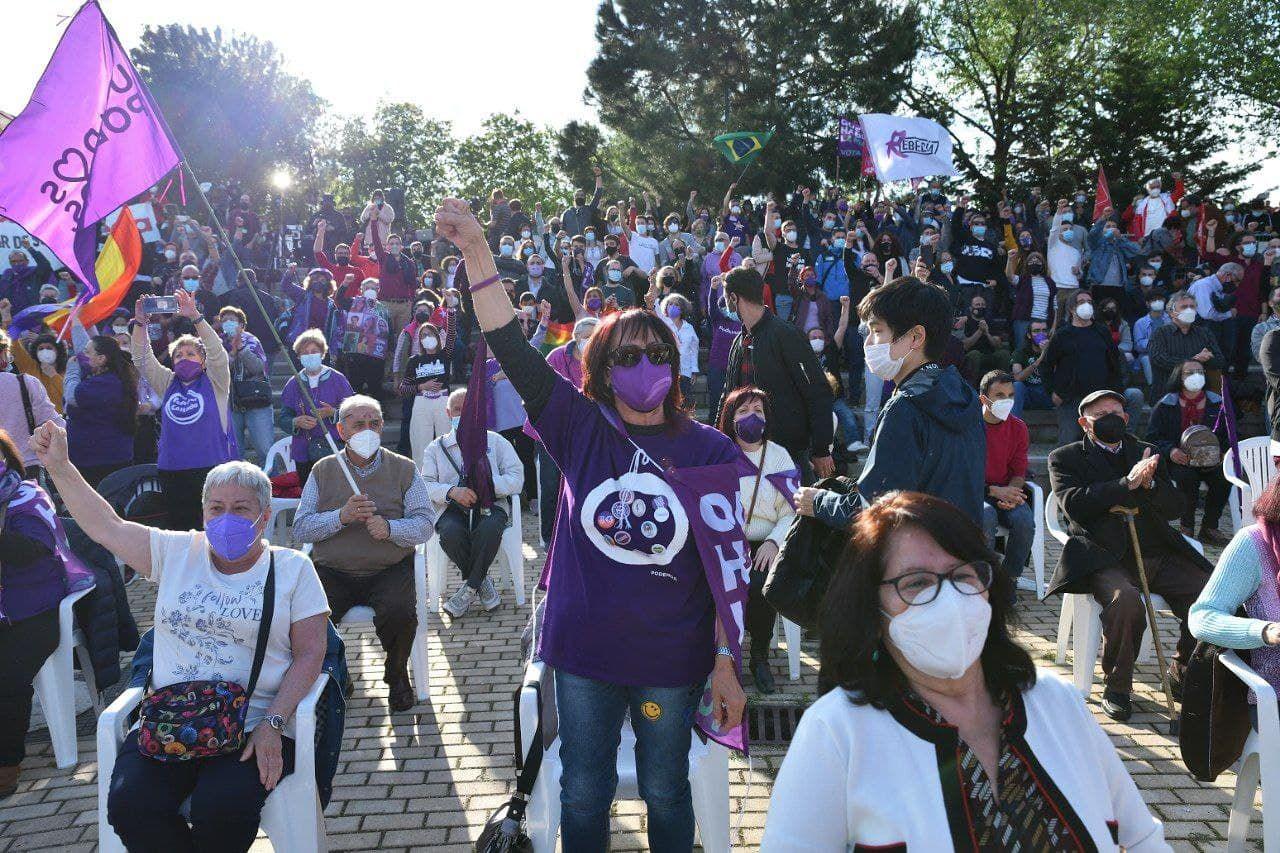 Unidas Podemos cierra la campaña electoral en Vicálvaro